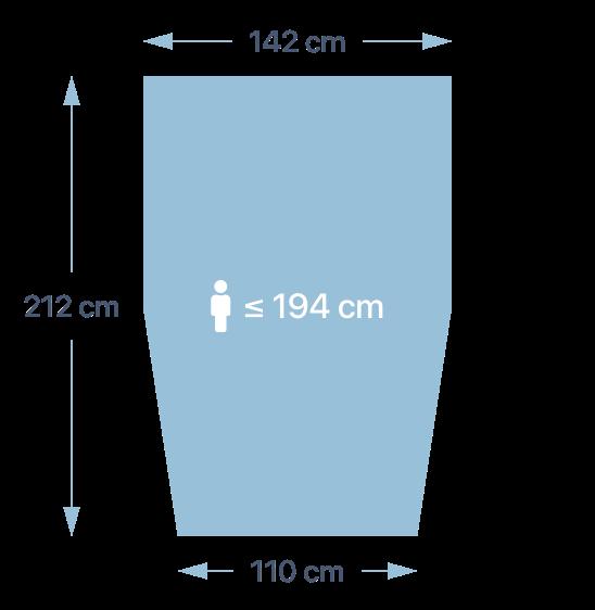 Dimensions de la couette PERLOUIC - taille L