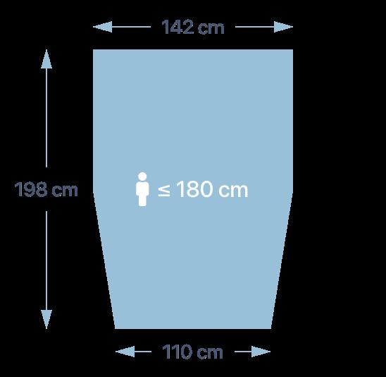 Dimensions de la couette PERLOUIC - taille M+