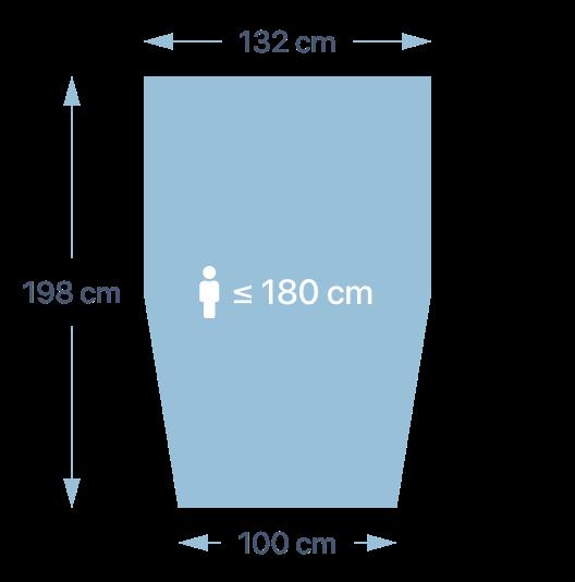 Dimensions de la couette PERLOUIC - taille M