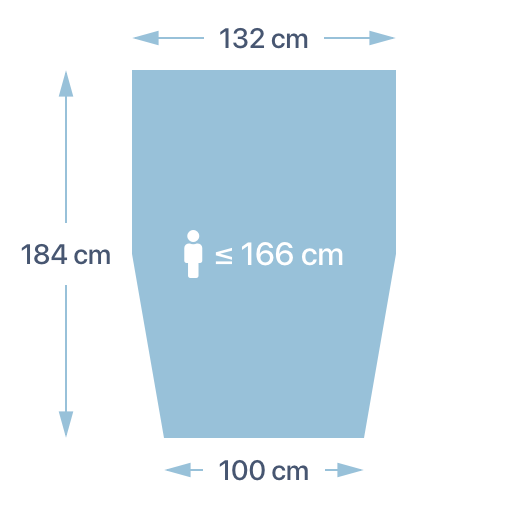 Dimensions de la couette PERLOUIC - taille S